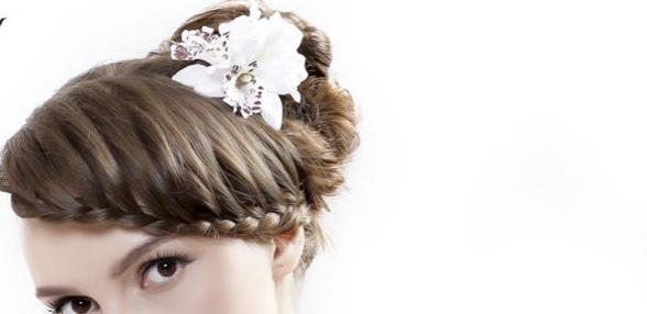 Barrette cheveux fleur orchidée boho boheme chic hair0268