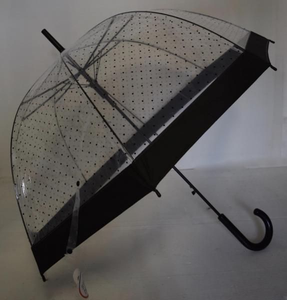 Parapluie pois bordure noire boho boheme chic DIV0431