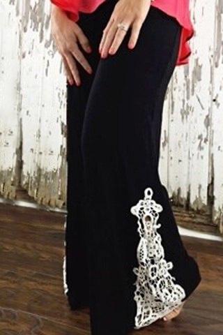 Pantalon bas dentelle boho boheme chic pants0107