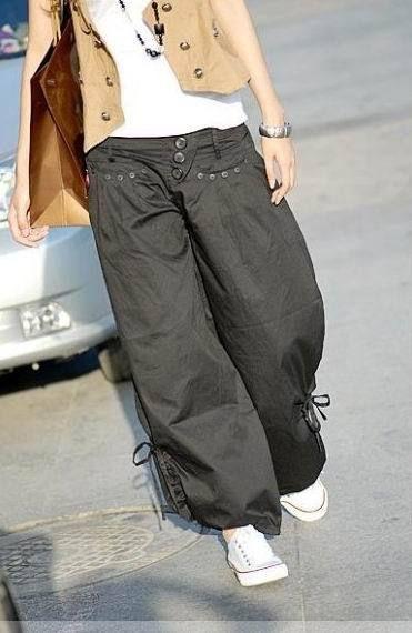 Pantalon bas bouffant boho boheme chic pants0142