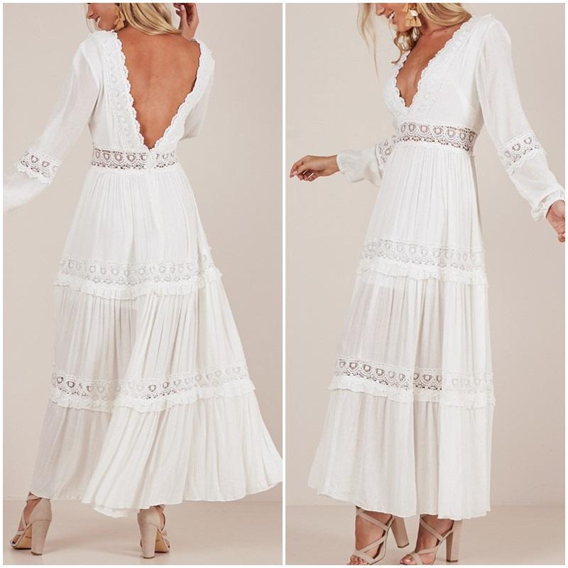Robe dentelle haute qualité marque boho bohème chic dressl1556