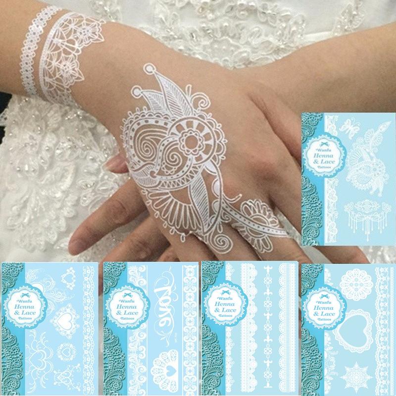Tatouage temporaire henné blanc boho boheme chic access0252