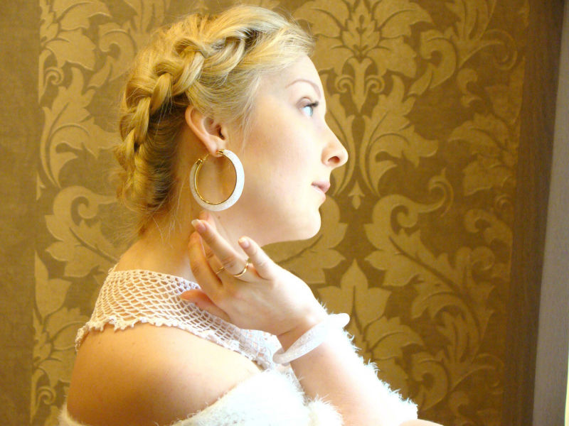 Boucles d\'oreilles anneaux strass boho boheme chic bo0277