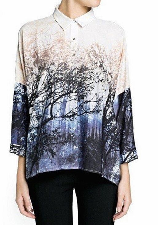 Top blouse ample arbre boho boheme chic top0307