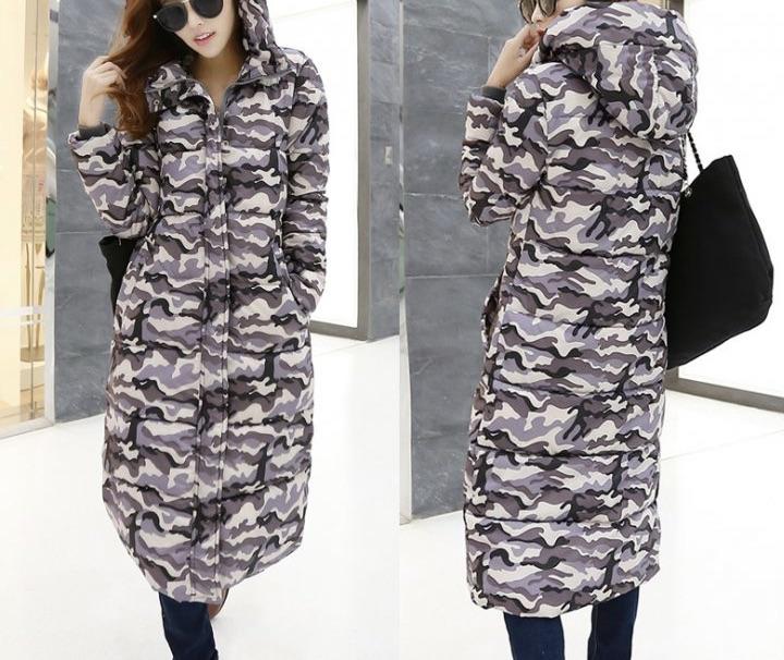 Parka camouflage dentelle boho boheme chic COAT0165