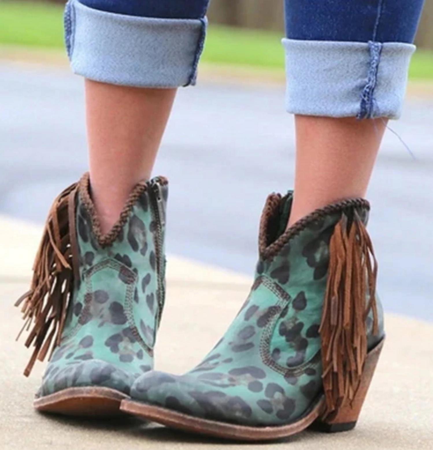 Boots léopard boho boheme chic CHAUSS0122