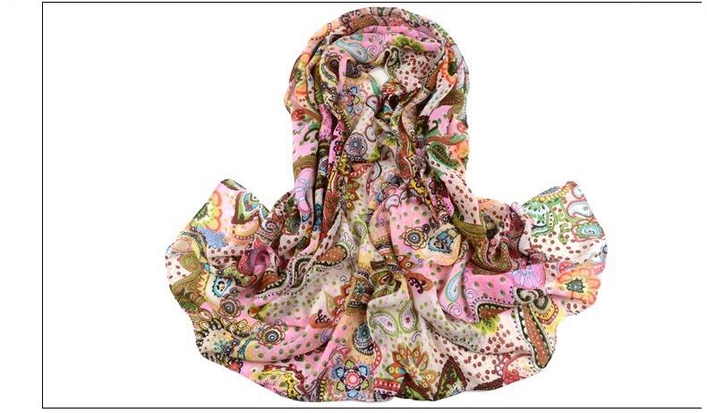 Echarpe foulard imprimé boho boheme chic scarf0173