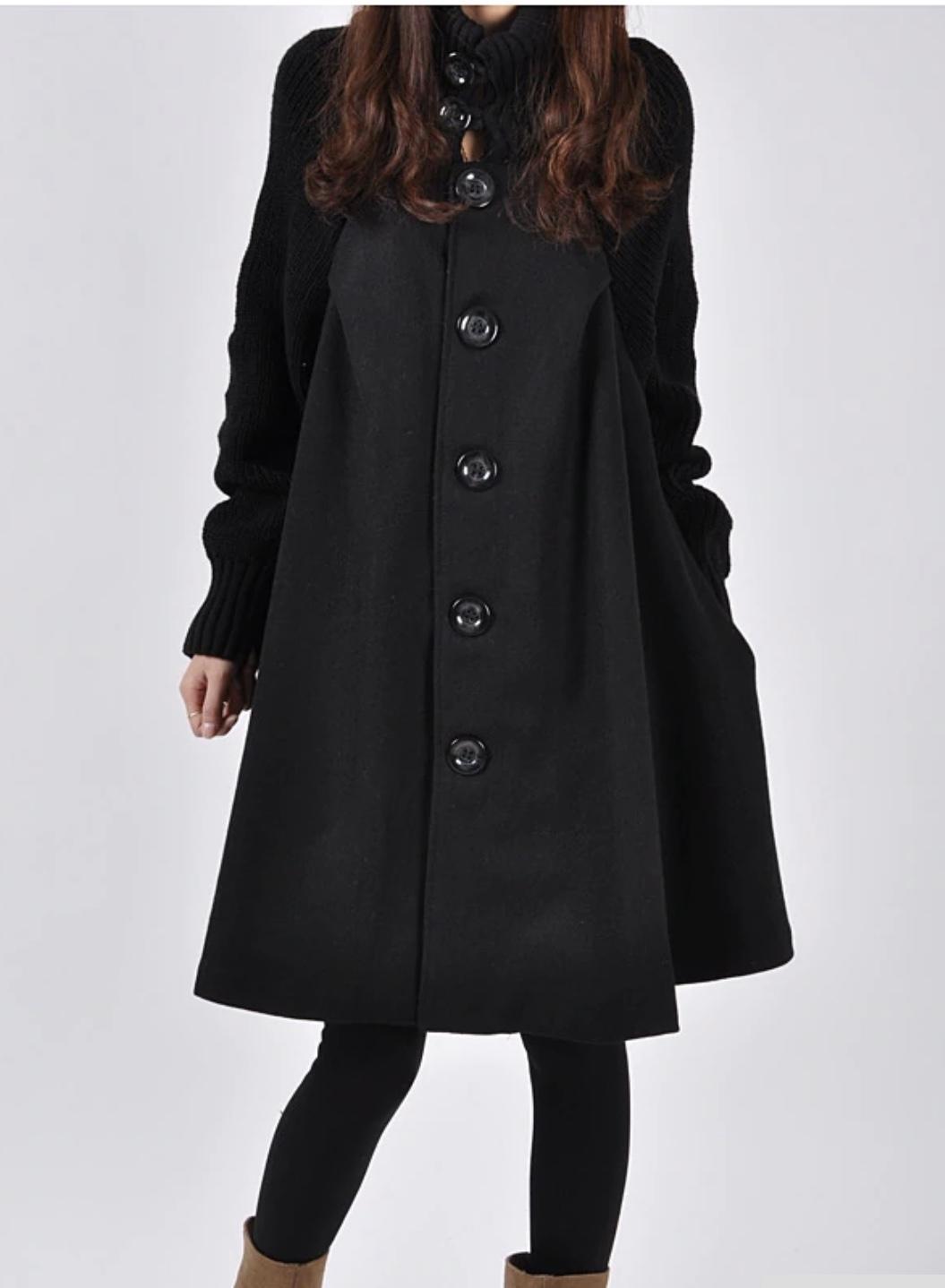 Manteau court évasé boho boheme chic coat0114