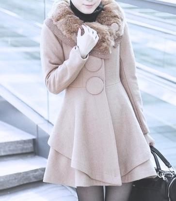 Manteau cintré beige rivets boho boheme chic coat0145