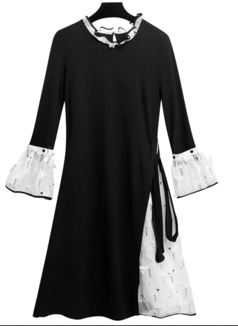 Robe  bi matière boho boheme chic DRESS1718