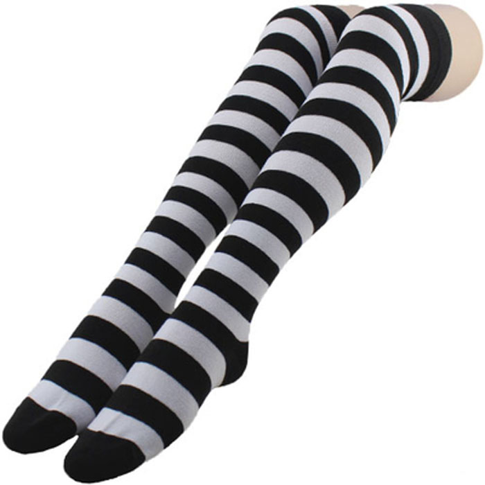 Chaussettes hautes rayures boho boheme chic ling0202