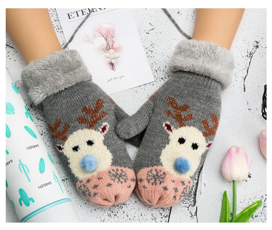 Moufles motif rêne boho boheme chic gloves0286