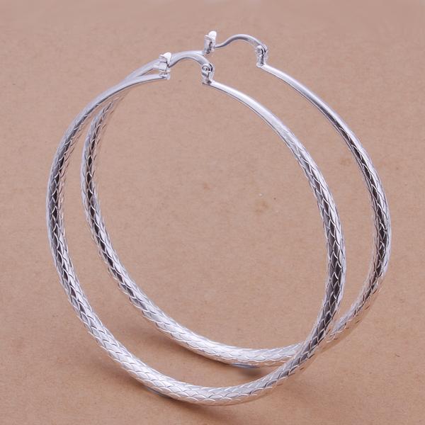 Boucles d\'oreilles anneaux argent boho boheme chic BO0314