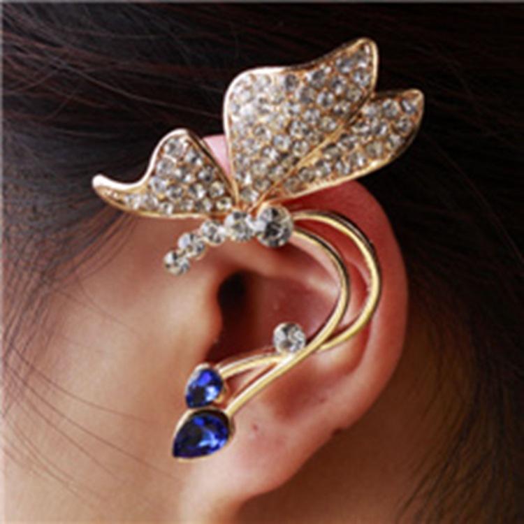 Boucle d\'oreille strass bleus marque boho boheme chic bo0337
