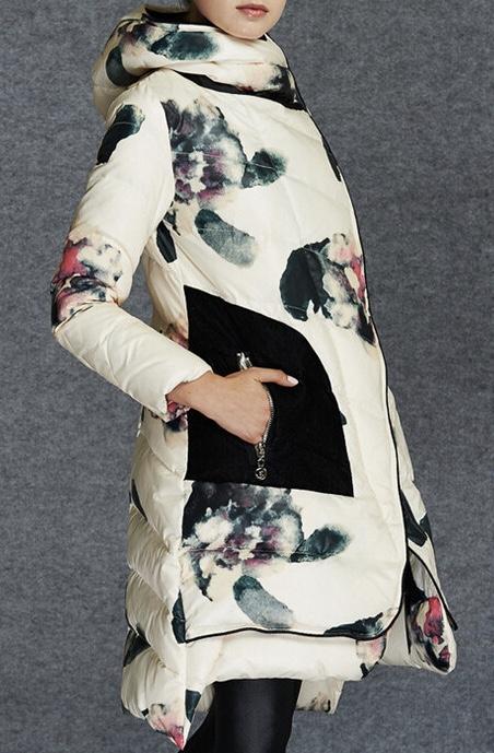 Parka capuche duvet marque boho boheme chic coat0188