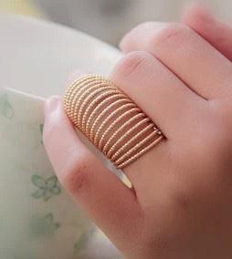 Bague multirangs dorée boho boheme chic ring0414