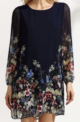Robe imprimé fleurs boho boheme chic  DRESS1120