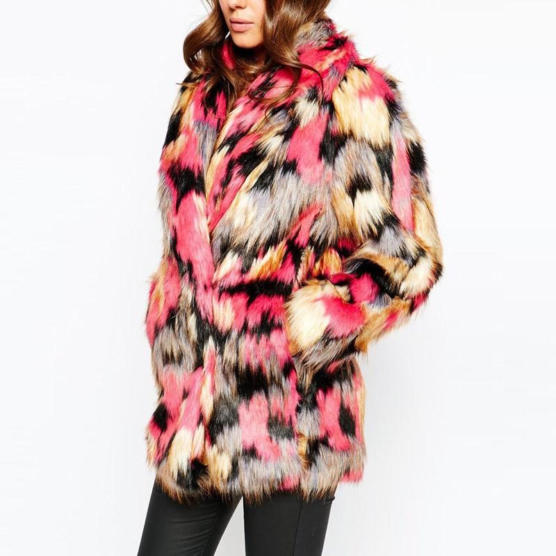 Manteau fausse fourrure colorée boho boheme chic coat0194