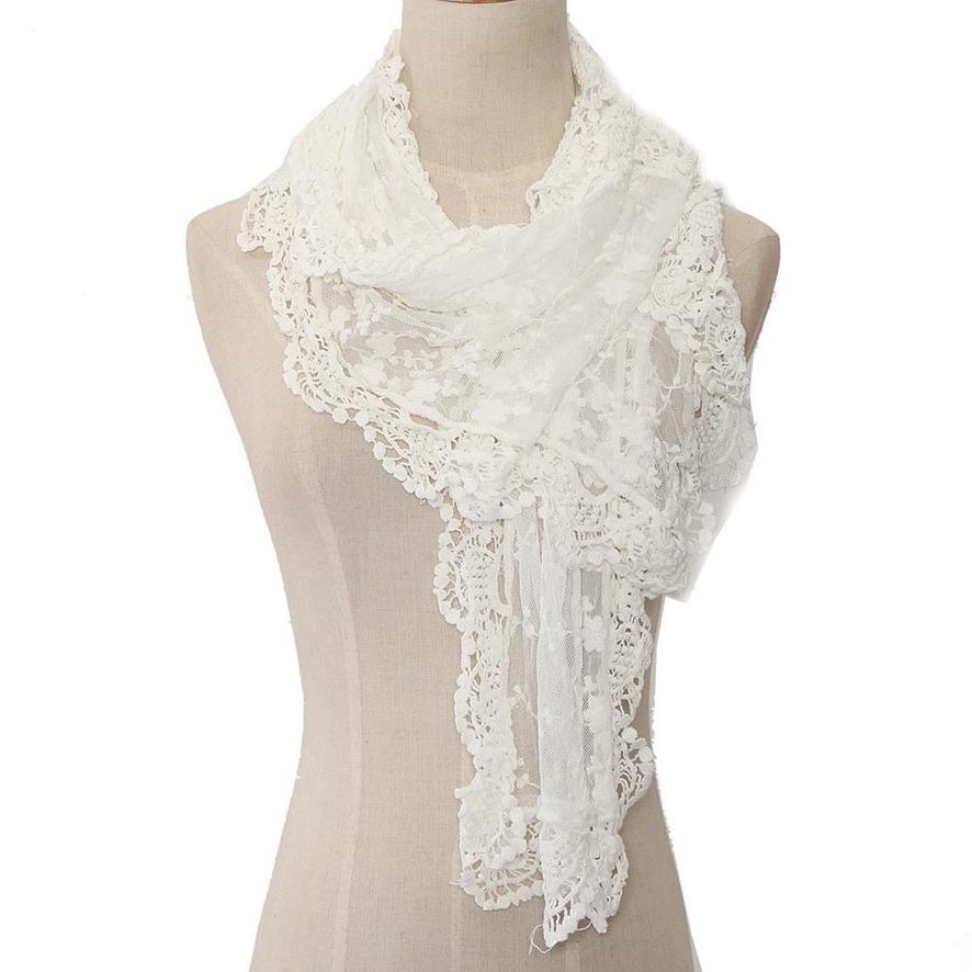 Echarpe dentelle beige ou blanc boho boheme chic scarf0285