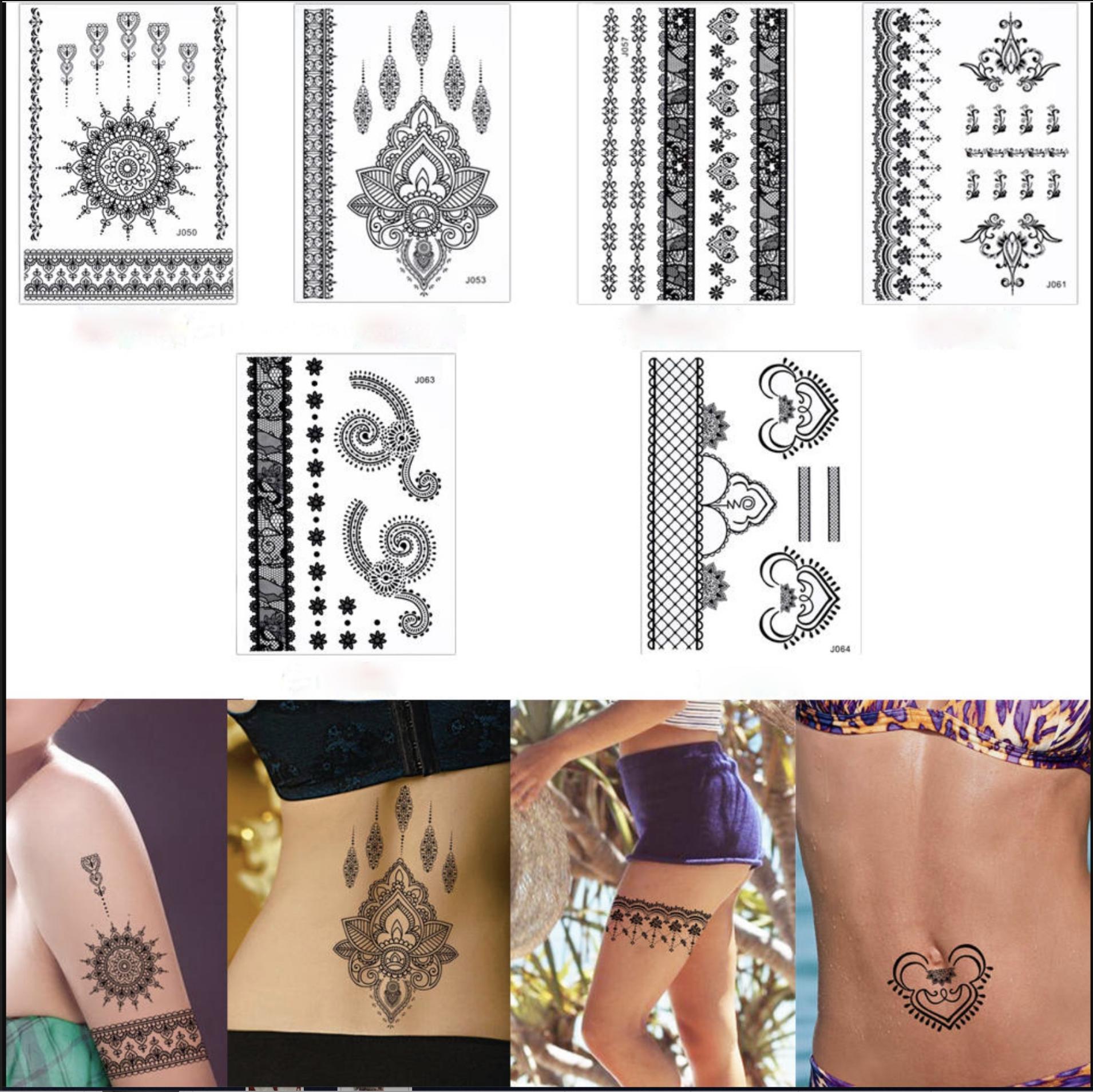 Tatouage temporaire Lot de 6 planches Tattoomiddle0091