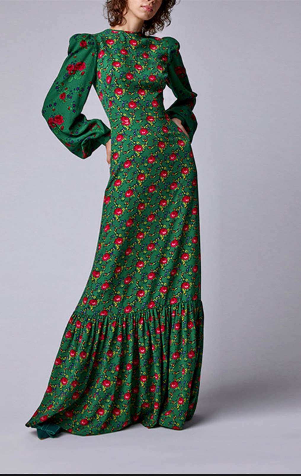 Robe longue fleurs boho boheme chic dressl1770