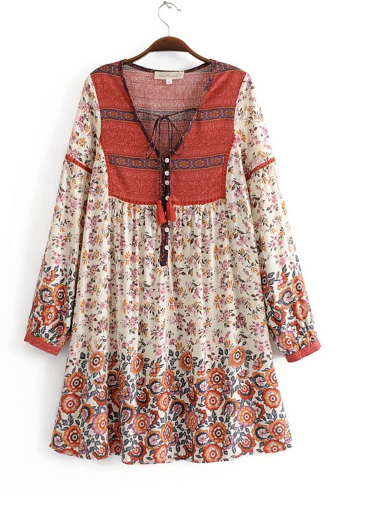 Robe imprimée hippie vintage boho boheme chic dress1777