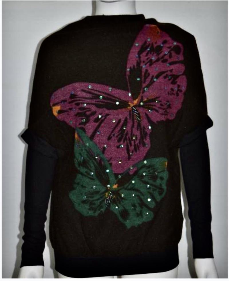 Pull laine papillon boho boheme chic PULL0515