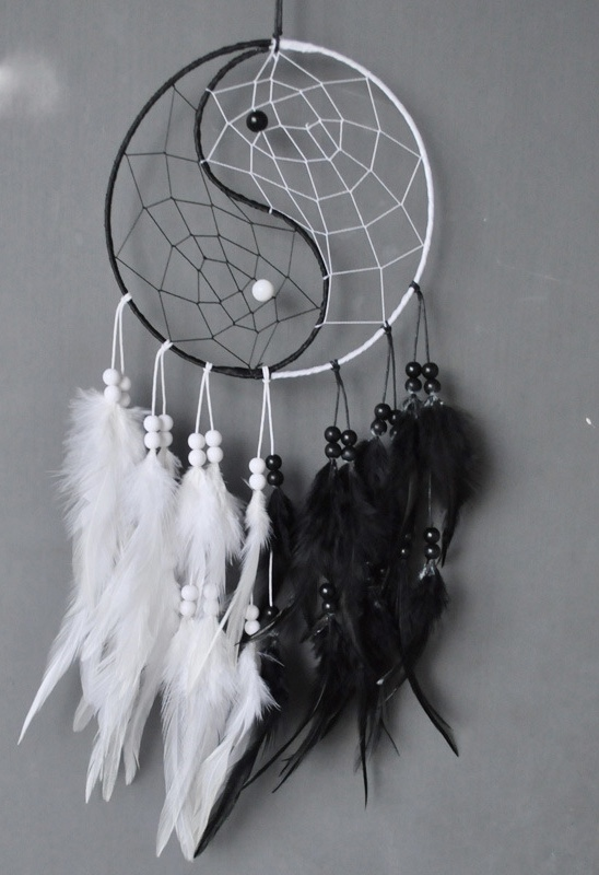 Attrape rêves yin yang boho boheme chic ACCESS0338