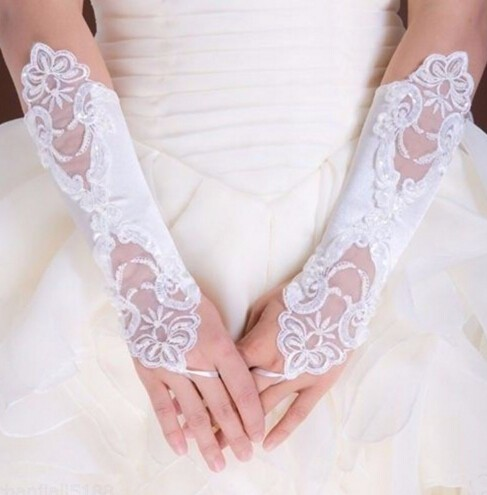 Gants mariage blanc cassé dentelle boho boheme chic GLOVES0327