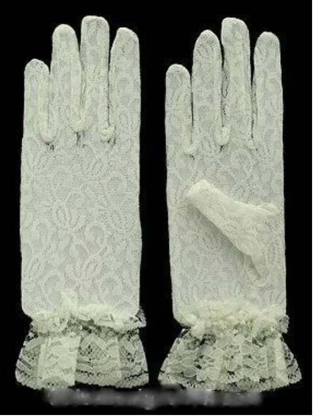 Gants dentelle ivoire boho boheme chic GLOVES0329