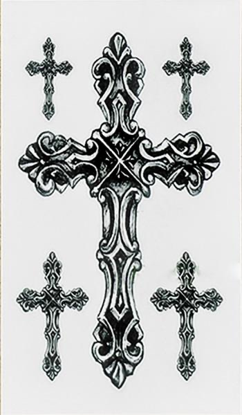Tatouage temporaire - Tribal cross TATTOO0404
