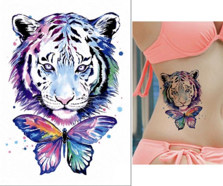 Tatouage temporaire - Tiger colored butterfly TATTOO0407
