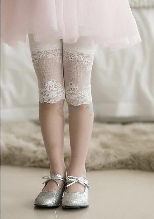 Legging petite fille bas dentelle boho boheme chic LEGG0037