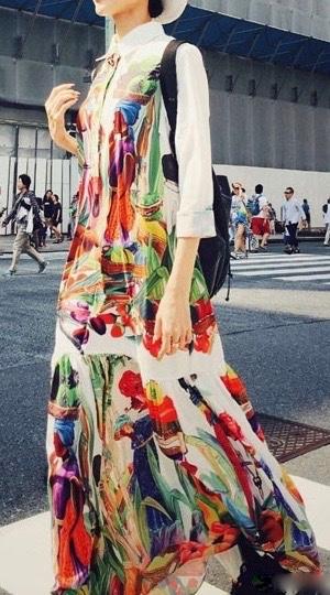 Robe longue imprimée africa marque boho boheme chic dressl0983