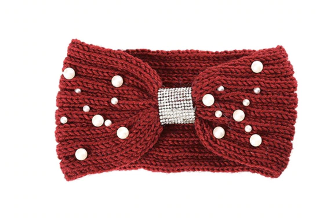 Bandeau laine perles boho boheme chic HAIR0427