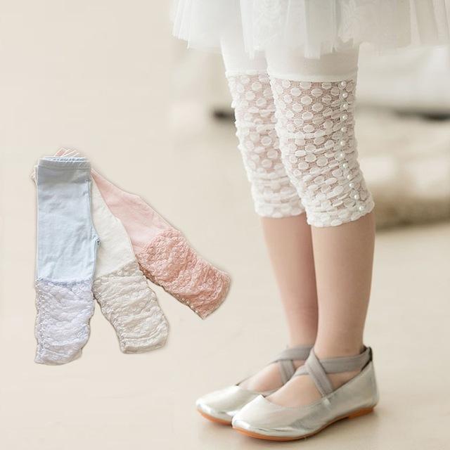 Legging petite fille bas dentelle perles boho boheme chic leggpf0173