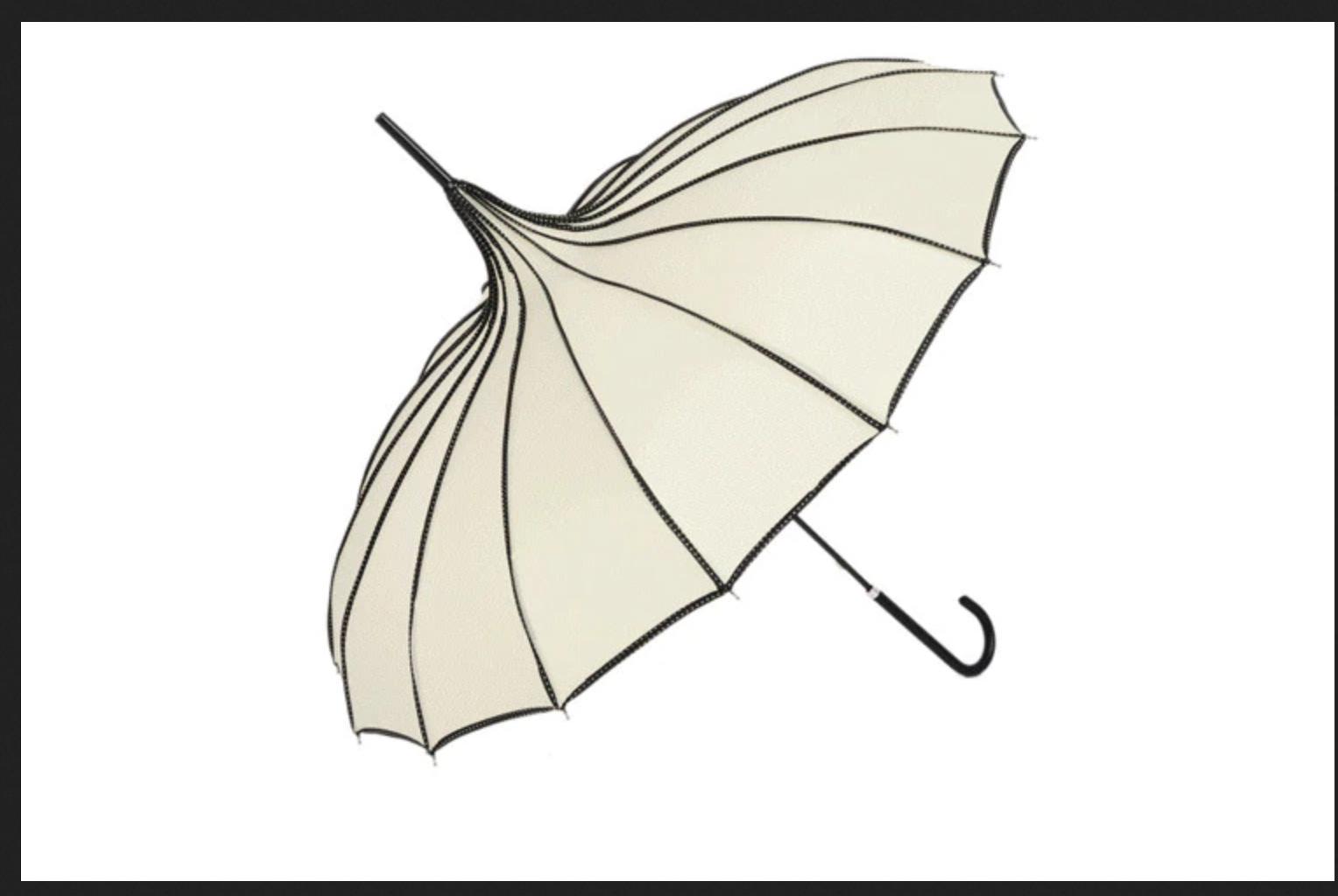 Parapluie ombrelle forme pagode japonaise boheme chic DIV0432