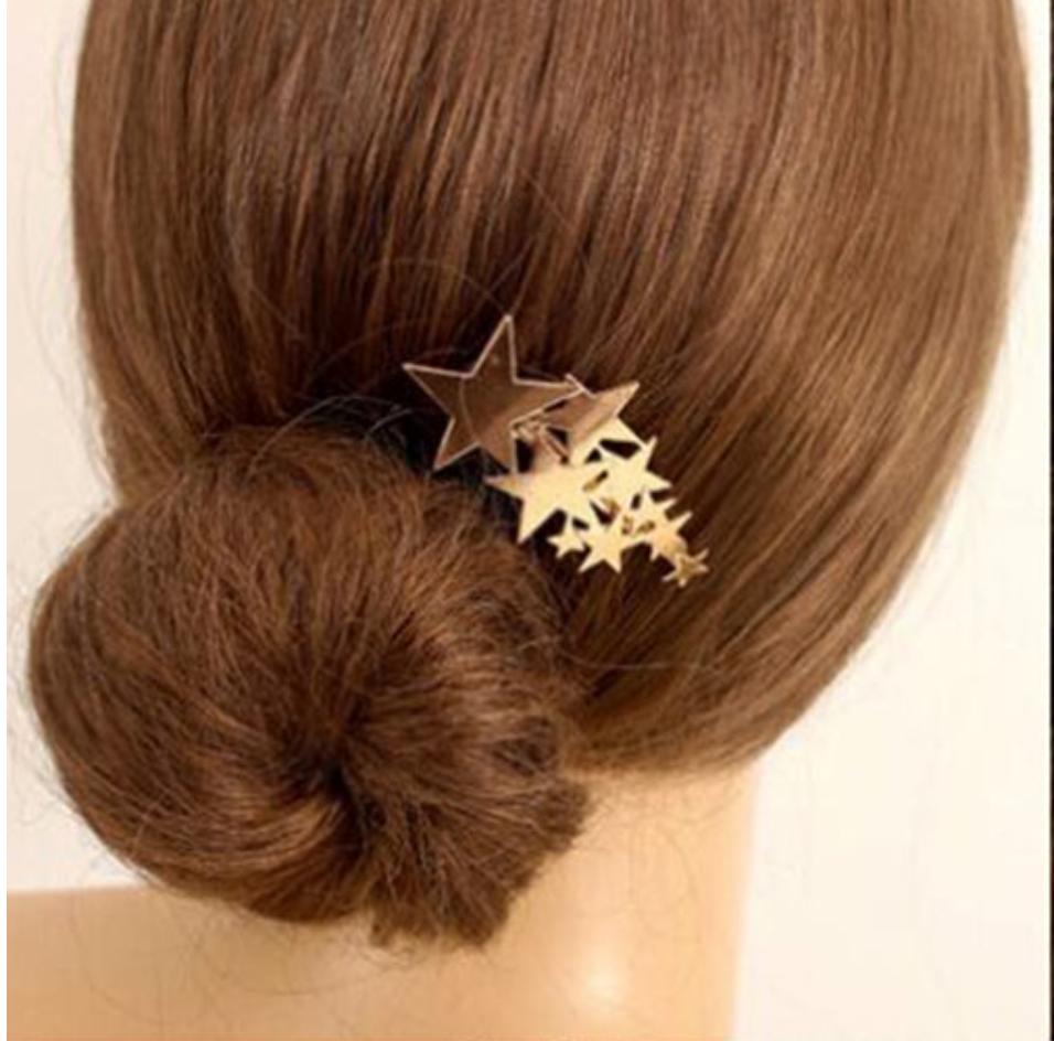 Barrette étoiles dorées boho boheme chic HAIR0437