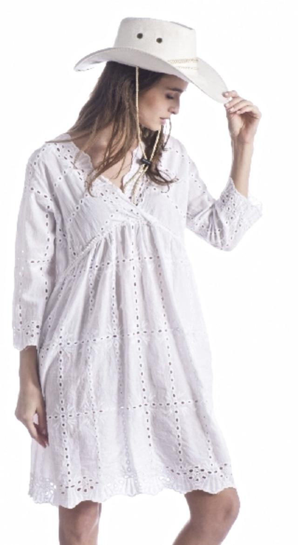 Robe broderie anglaise 100 % boho boheme chic DRESS1401