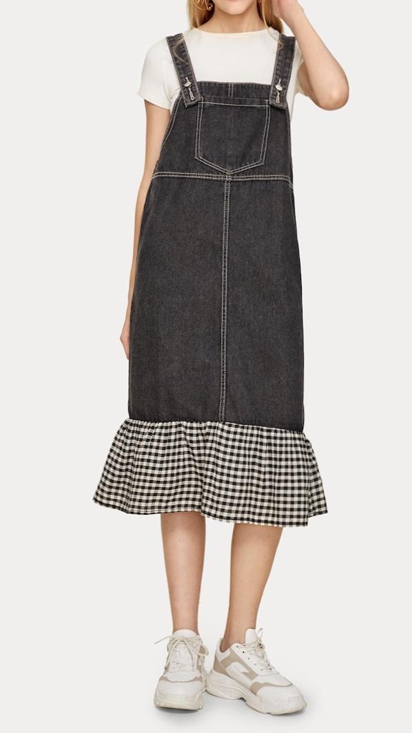Robe jupe jean bretelles boho bohème chic DRESSL1665