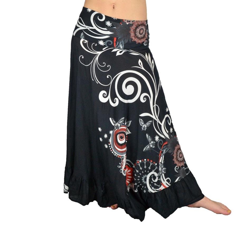 Jupe coton hippie boho bohème chic skirt0235
