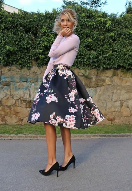 Jupe fleurs haute qualité boho boheme chic skirt0141