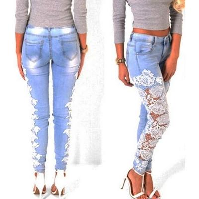 Jean dentelle boho boheme chic pants0116