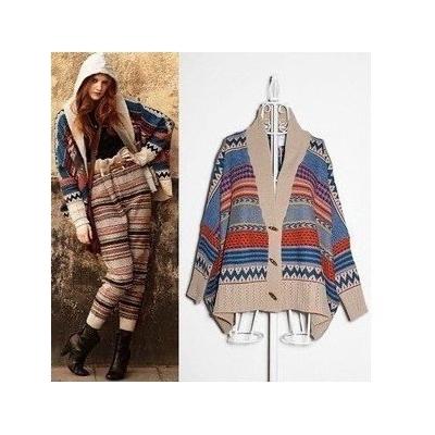 Gilet ethnique tricoté court boho boheme chic  GIL0075
