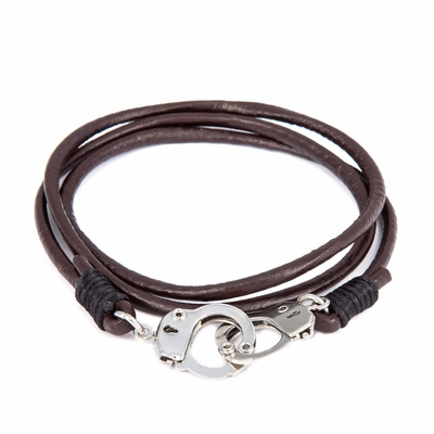 Bracelet cuir menottes mixte boho boheme chic BANGLE0499