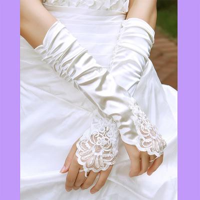 Gant mariage ivoire 1 doigt boho boheme chic gloves0078