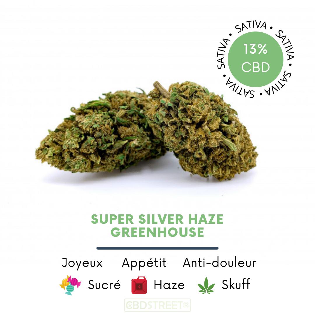 Super Silver Haze CBD greenhouse 13%