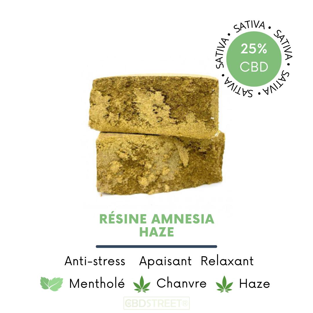Résine CBD Amnesia Haze 25%