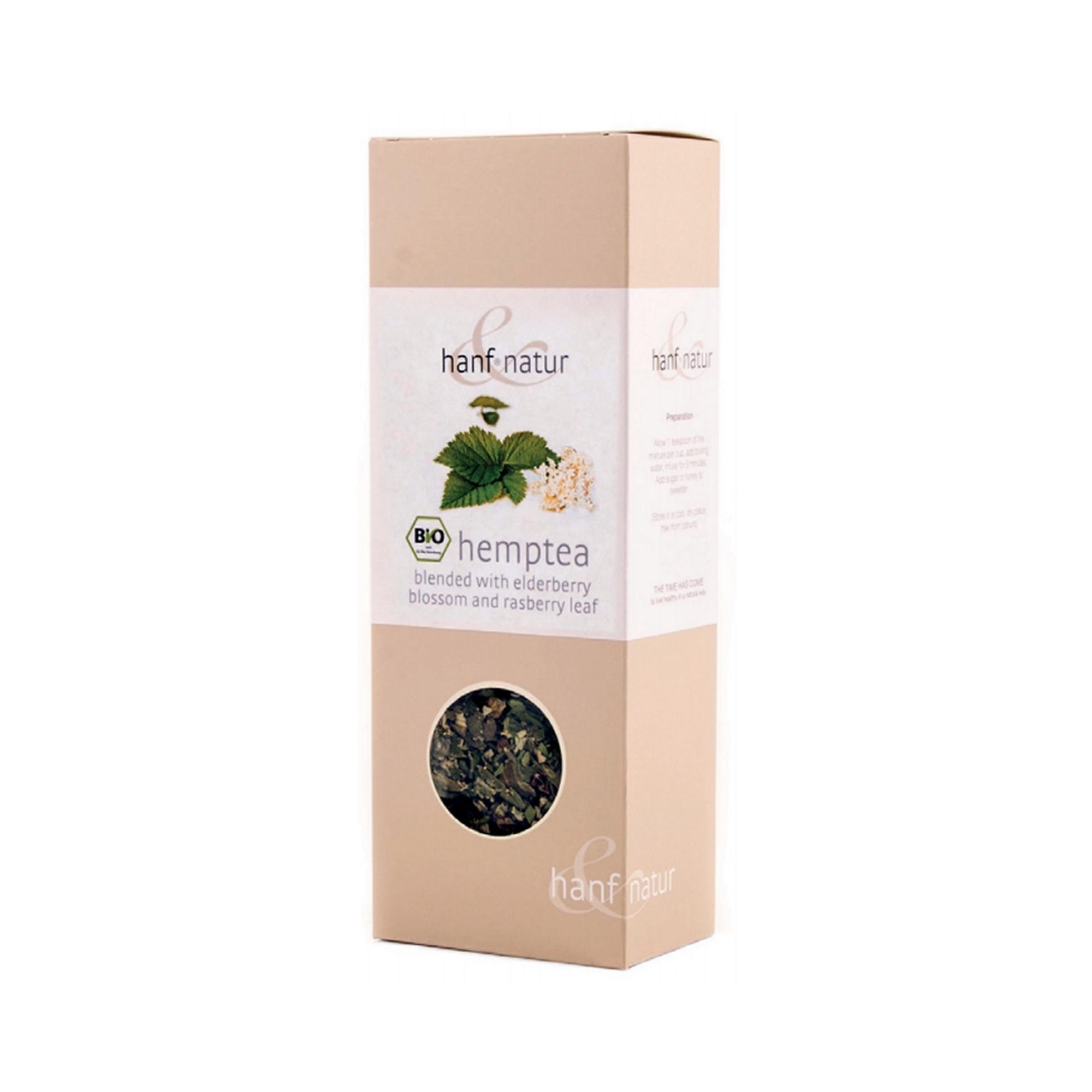 Thé de chanvre, Fleur de Sureau et feuilles de Framboisier Bio