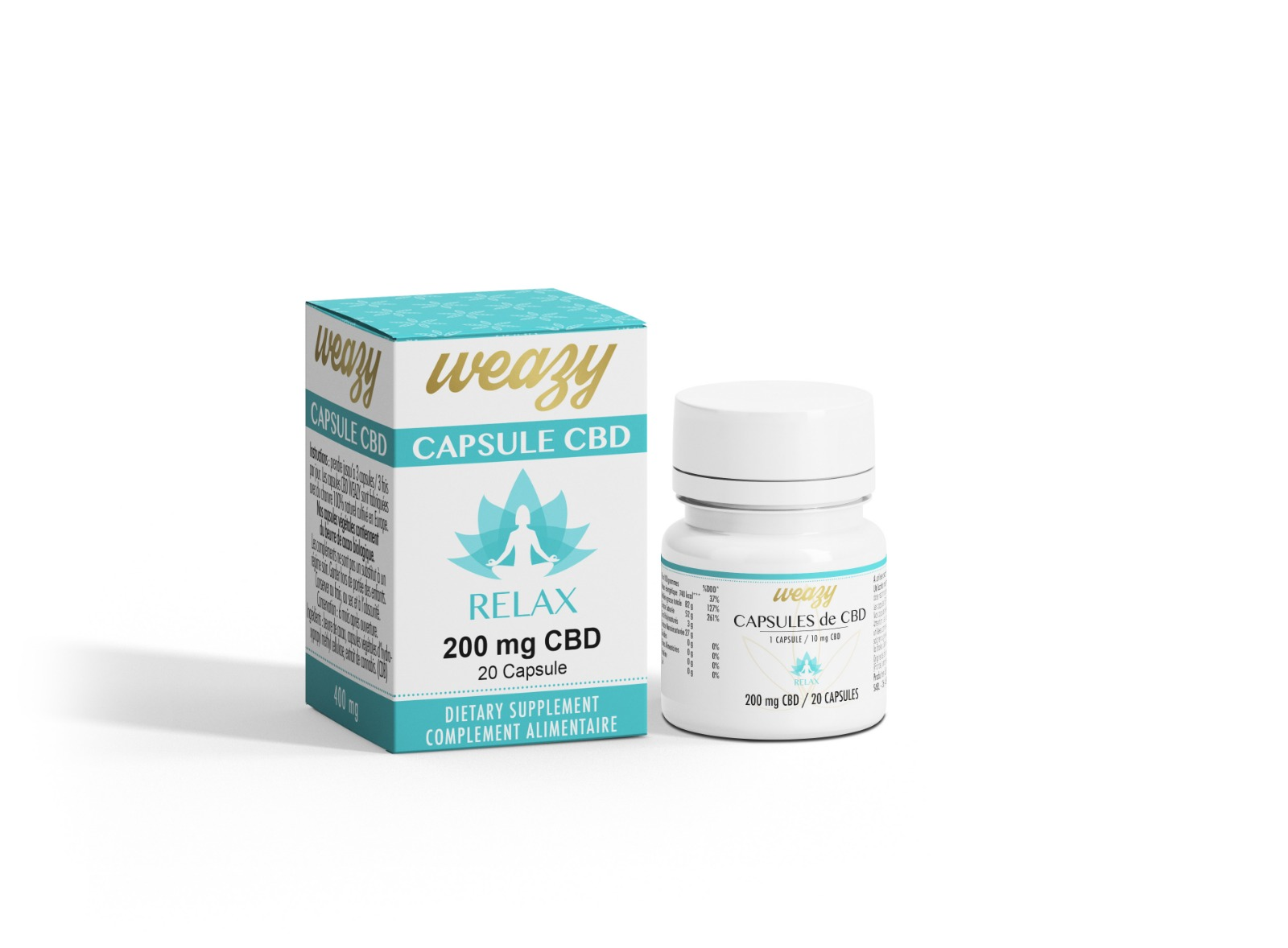 Capsules Relax 200mg CBD Weazy